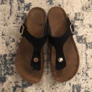 Shoes - Black Faux Birkenstock Sandal